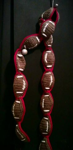 football scarf by CroClaymethis on Etsy, $30.00