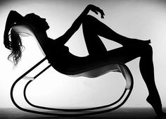 . chair, oleg ti, shadow, art, white, style icons, silhouettes, black, photographi