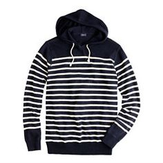 Plank-stripe cotton hoodie