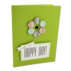 Happy Day Card Project Idea from Creative Memories - using the Hexagon Border Maker Cartridge (limited edition)