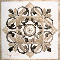Marble waterjet medallion for tile floors - love them in the foyer or several together in a dining room Marble Mosaic, Mosaic Tiles, Floor Design, Tile Design, Color Plan, Tiles Texture, Floor Patterns, Marble Pattern, Stone Flooring
