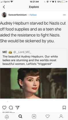 """""""our white ladies"""" wtf stop. Racist on the part as if white is equivalent to beauty and if you aren't white you aren't beautiful. And sexist as though white women belong to you and as though they would support this (although plenty of racist ww). Intersectional Feminism, Anti Racism, Pro Choice, Equal Rights, Faith In Humanity, Women In History, Social Issues, Audrey Hepburn, Social Justice"""
