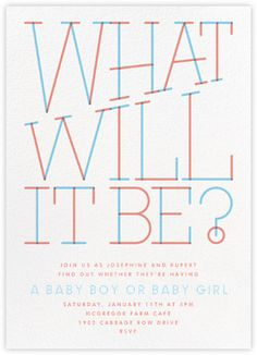 Revealing Question   Paperless Post. Paperless PostBaby Shower ...