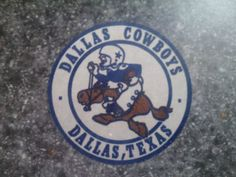 Vintage Dallas Cowboys Embroidered Iron On Patch (Old Stock) 3