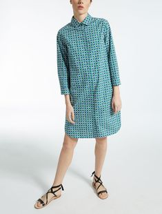 Max Mara KARIM cornflower blue: Cotton poplin dress.