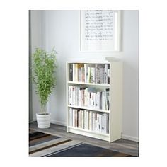 IKEA - BILLY, Bookcase, white, 80x28x106 cm, , Adjustable shelves; adapt space between shelves according to your needs.A simple unit can be enough storage for a limited space or the foundation for a larger storage solution if your needs change.