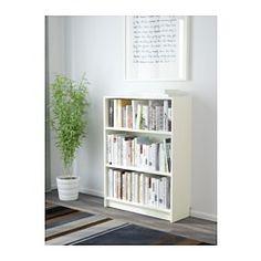 IKEA - BILLY, Bücherregal, weiß, , Versetzbare Einlegeböden.Man kann bei wenig Platz mit einem Element beginnen und es je nach Aufbewahrungsbedarf erweitern.