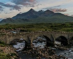Sligachan Bridge & The Black Cuillin , Isle of Skye