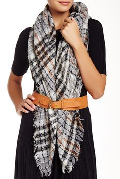 Collection XIIX Classic Boucle Square Run Scarf | $19.97