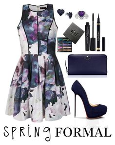 """""""Spring Formal"""" by desireewolfe ❤ liked on Polyvore featuring Ally Fashion, Smashbox, Kate Spade, Urban Decay, Yves Saint Laurent, BillyTheTree and springformal"""