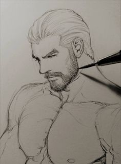 Carlnes short haircut by aenaluck on DeviantArt Anatomy Sketches, Anatomy Drawing, Guy Drawing, Art Drawings Sketches, Figure Drawing, Drawings Of Men, Art Du Croquis, Poses References, Art Reference Poses