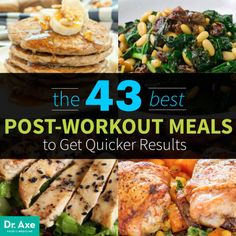 The 43 Best Post-Workout Meals for Faster Results - Dr. Axe The 43 Best Post-Workout Meals for Faster Results Best Post Workout Food, Post Workout Nutrition, Post Workout Snacks, Fitness Nutrition, Workout Diet, Post Workout Smoothie, After Workout Meal, Healthy Workout Meals, Post Workout Breakfast
