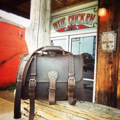 Outside the Dixie Chicken in College Station. | Saddleback Leather Co. | Classic Briefcase | 100 Year Warranty | $568.00 - $664.00