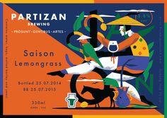 Partizan Brewing - Saison Lemongrass G000-154