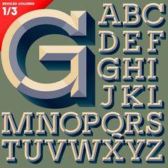 Free Vector Alphabet / Alfabeto Vectorizado Gratuito