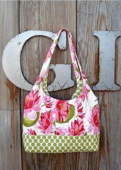 """♥ beautiful """"chemisette"""" handbag - pdf sewing pattern #sewandsell #sewing"""