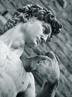 Statue of David by Michelangelo, the most beautiful piece of marble in Firenze.