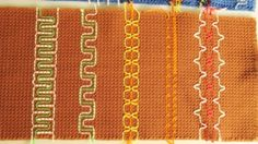 How to crochet waffle weave the Swedish way of making pot holders and a nice waffle weave scarf a little different waffle stitch v. Swedish Embroidery, Beaded Embroidery, Cross Stitch Embroidery, Crafts To Do, Arts And Crafts, Huck Towels, Waffle Stitch, Weaving Designs, Swedish Weaving