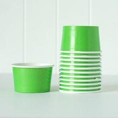 NEW! Ice Cream Cups - Green shoptomkat.com