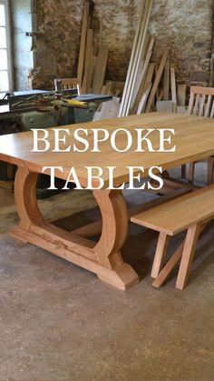 Dining Room Furniture, Outdoor Furniture, Outdoor Decor, Wood Bedroom Sets, Oak Dining Table, French Oak, Handmade Furniture, Modern House Design, Modern Farmhouse