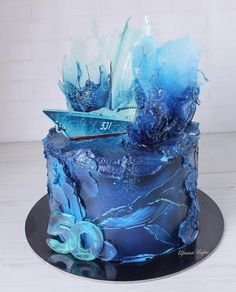 Ocean Cakes, Single Tier Cake, Glass Cakes, Just Cakes, Sweet Cakes, Creative Cakes, Perfect Party, Tiered Cakes, Fun Desserts