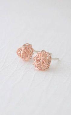 Little Love Knot Earrings tangle ball earrings....love these!