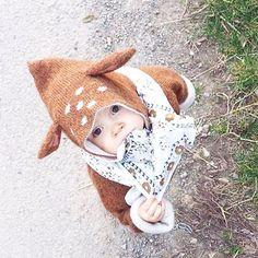 Instagram photo by @oeufnyc Oeufnyc Oeuf bambi hoodie kidswear kids babies knit