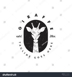 giraffe silhouette in black background with rustic grunge style logo icon vector template Giraffe Silhouette, Animal Logo, Grunge Style, Vector File, Grunge Fashion, Royalty Free Photos, New Pictures, Pigs, Black Backgrounds