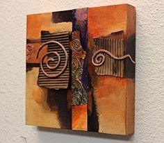 """Daily Painters Abstract Gallery: Abstract Mixed Media Painting """"Copper Curls"""" by Colorado Mixed Media Abstract Artist Carol Nelson Mixed Media Painting, Mixed Media Canvas, Art Texture, Wal Art, Copper Art, Hammered Copper, Assemblage Art, Art Techniques, Collage Art"""