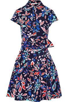 Diane von Furstenberg|Scarlet floral-print cotton-poplin shirt dress|NET-A-PORTER.COM