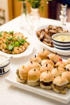 Mini Burgers, Party Food Ideas