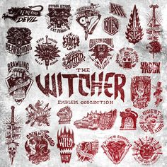 The Witcher Emblem Collection its a graphic set of handmade images and concepts . - the witcher tattoo inspiration - Tattoo-Ideen Witcher Art, Witcher 3 Wild Hunt, The Witcher 3, Body Art Tattoos, Cool Tattoos, Geek Tattoos, Tatoos, Tattoo Modern, Witcher Tattoo