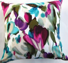 Magenta and Teal Pillow Cover
