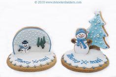 3D Snowman & Snow Globe Cookies
