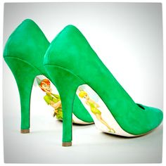 Vamers - G-Life - Shoes Inspired by Disney Princesses - Peter Pan - Tinkerbell and Peter Pan High Heels