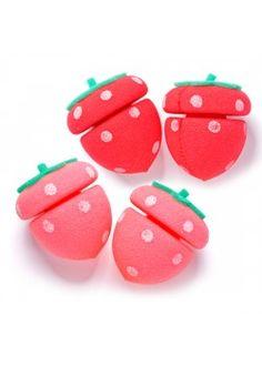 My Beauty Tool Strawberry Sponge Hair Curlers