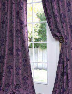 Fiori Dahlia Faux Silk Curtain . $59.00