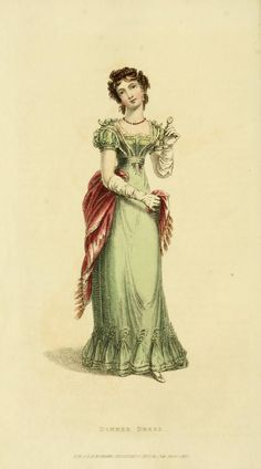 1824 Ackermann's Repository, dinner dress