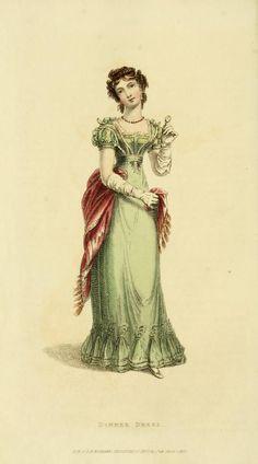 1824 Ackermann's Repository, dinner dress