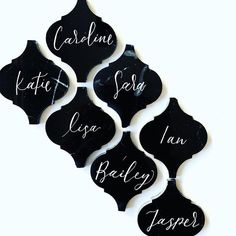 Wedding Place Cards, Black Marble, Pretty, Sequins, Bodycon Dress, Calligraphy, Instagram, Lettering, Calligraphy Art