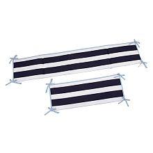 Sadie & Scout - Navy Multi Stripe 4-Piece Crib Bumper