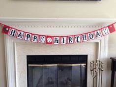 Baseball Happy Birthday Banner. Perfect for your Sports or All-Star Birthday Party on Etsy, $15.00