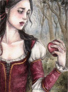 ACEO: Snow White by Achen089.deviantart.com on @deviantART