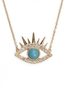 Turquoise Evil Eye Pendant