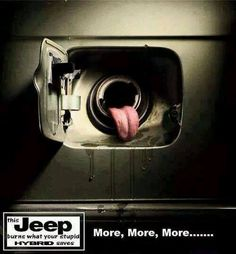 Feed Me! Shop for performance mods to make buying gas a little less painful! #JeepLife http://blackdogmods.com