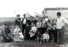 Foto antigua del mundo laboral en Granja de Torrehermosa (Badajoz)