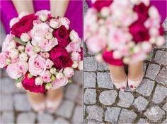 #Brautstrauss: Rosen in rosa + pink | Dazu der passende Nagellack für die Zehen ♥ | Nina Hintringer Photography