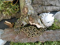 "Nostalgie Armband "" Blume"" Antik Bronze  von KAWAII auf DaWanda.com"