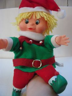 Vintage Christmas Elf puppet by IHEARTTHAT on Etsy, $9.50