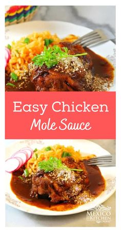 Chicken in Mole Sauce is one of the top dishes that represent our gastronomy not just in Mexico but on the global culinary stage, as well. The original recipe includes a long list of ingredients that frightens many novice cooks, here I will show you the easy way